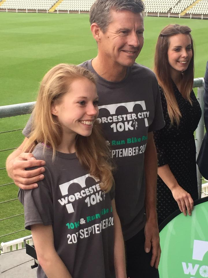 Jenny with Steve Cram