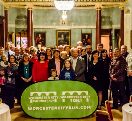 Worcester City Run volunteers with Steve Cram (far left)