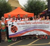Grace Kelly Ladybird Trust runners at the 2017 Worcester City Run